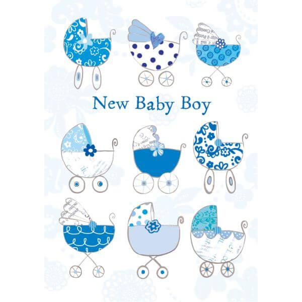 Felicitare carucior New Baby Boy
