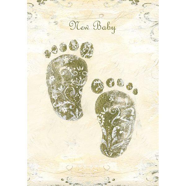 Felicitare New Baby - model picioruse
