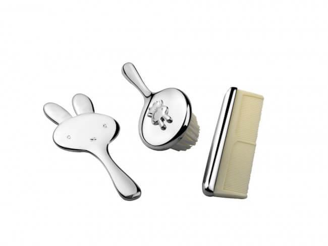 Set cadou argintat Miffy pentru mot sau turta