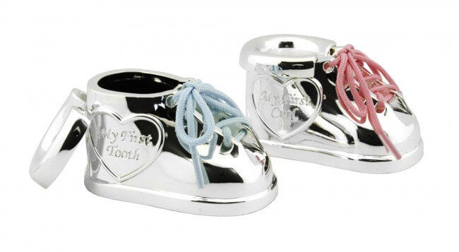 Set cadou botosei argintati pentru suvita si dintisor