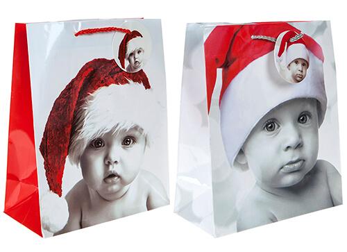 Punga de cadou pentru Craciun model bebelus