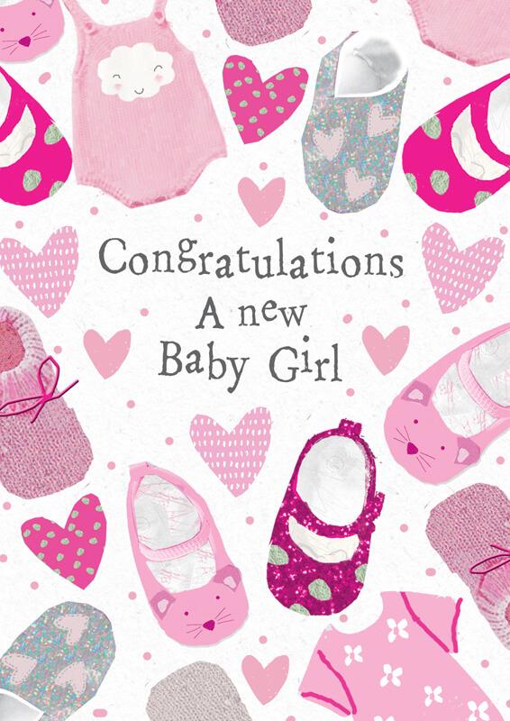 Felicitare cu pantofiori New Baby Girl