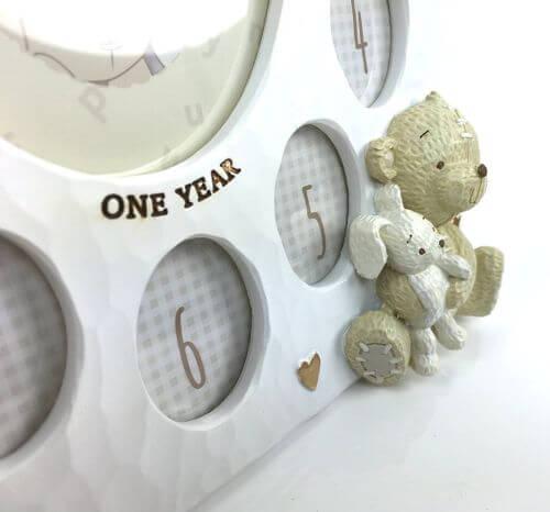 Button Corner - Rama foto My First Year cu ursulet si iepuras