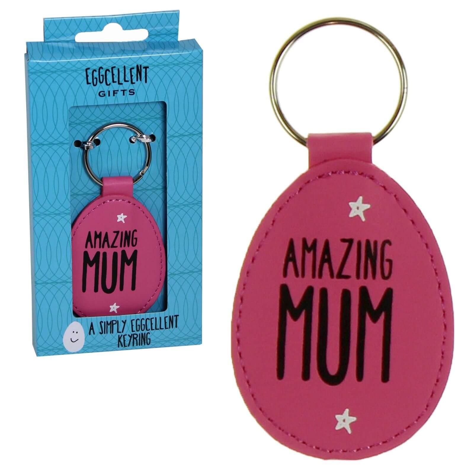 Eggcellent - Breloc roz pentru chei Amazing Mum
