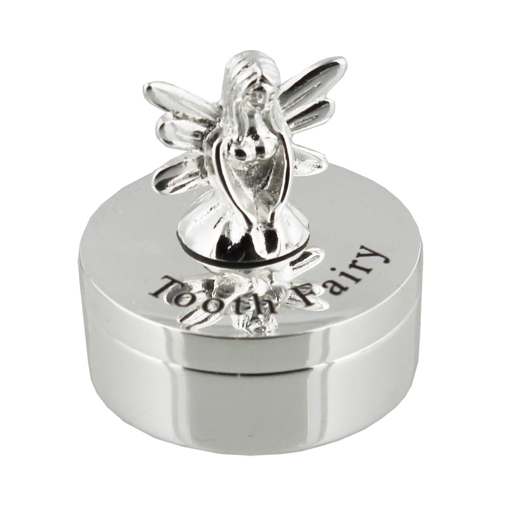 Cutie argintata pentru dintisor Zana Maseluta