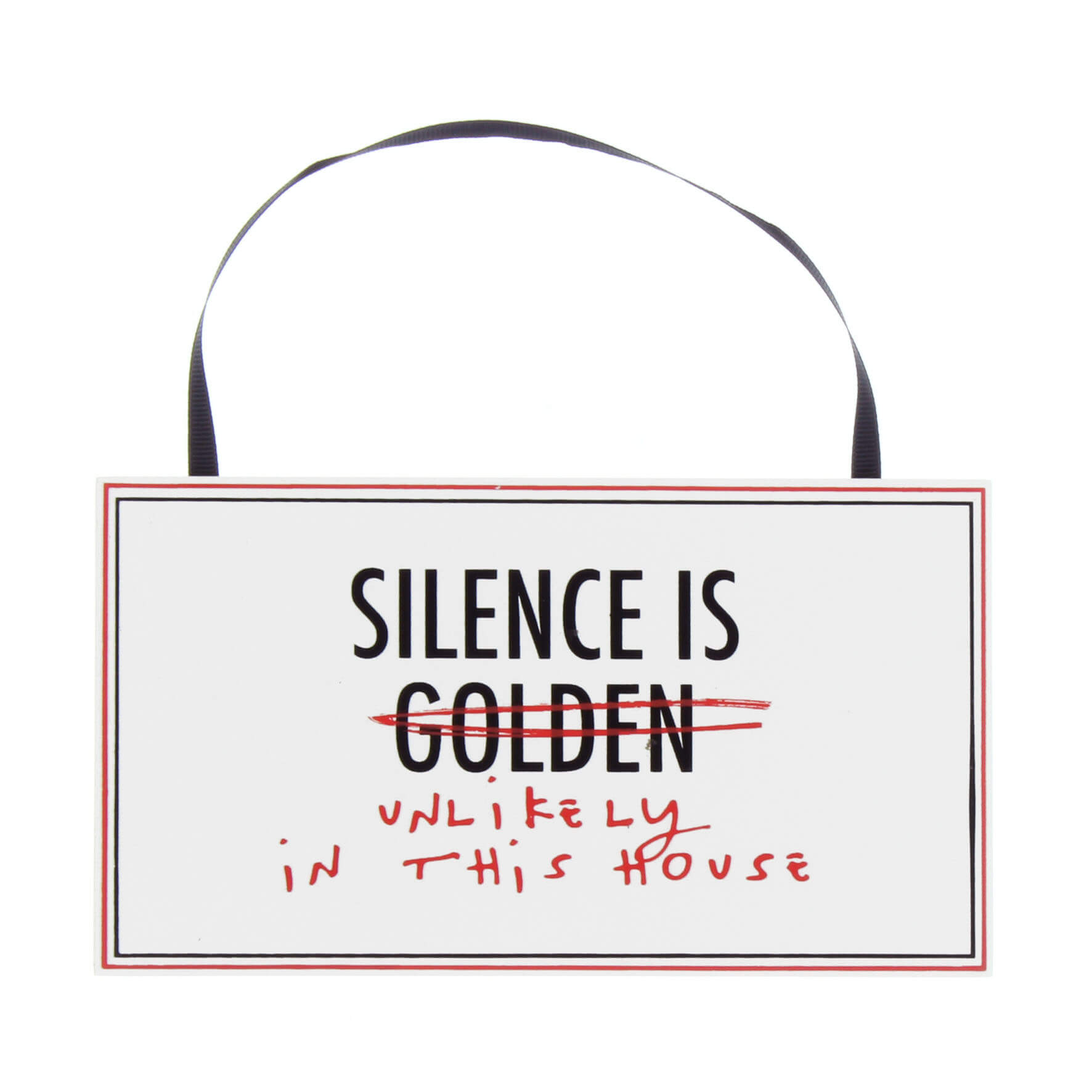 Placuta MDF Silence is Golden