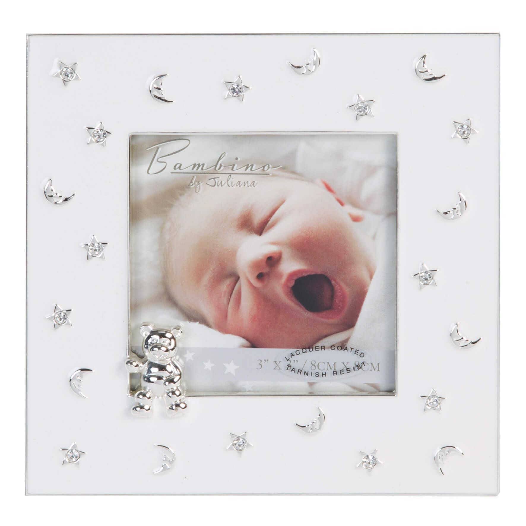 Bambino by Juliana - Rama foto margini argintate luna si stele
