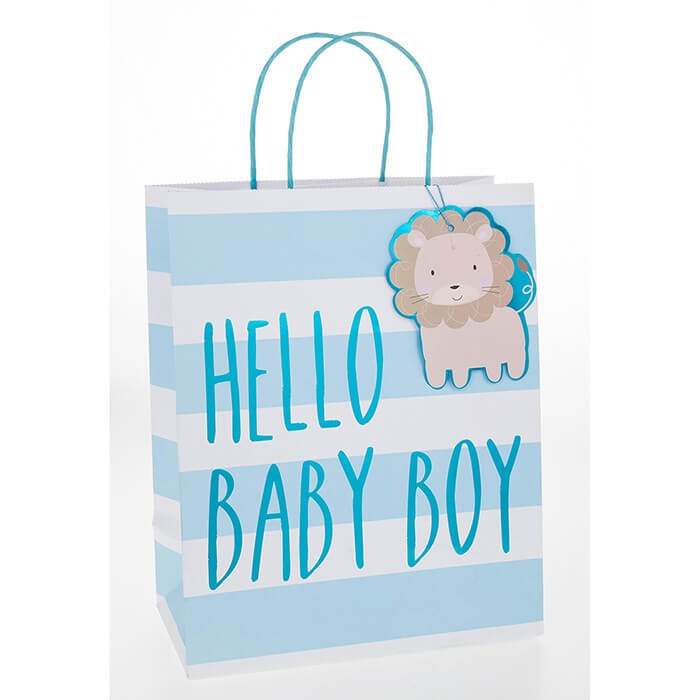 Punga de cadou medie Hello Baby Boy