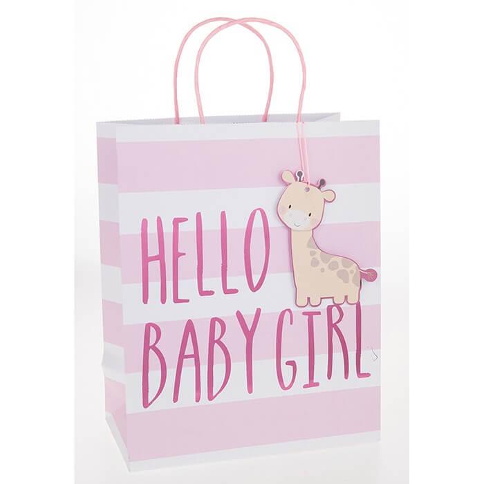 Punga de cadou mica Hello Baby Girl