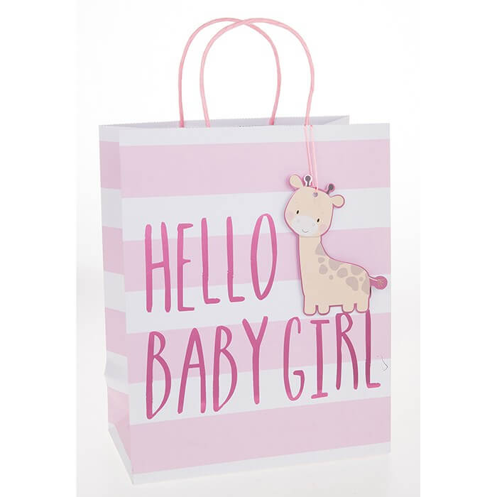 Punga de cadou medie Hello Baby Girl