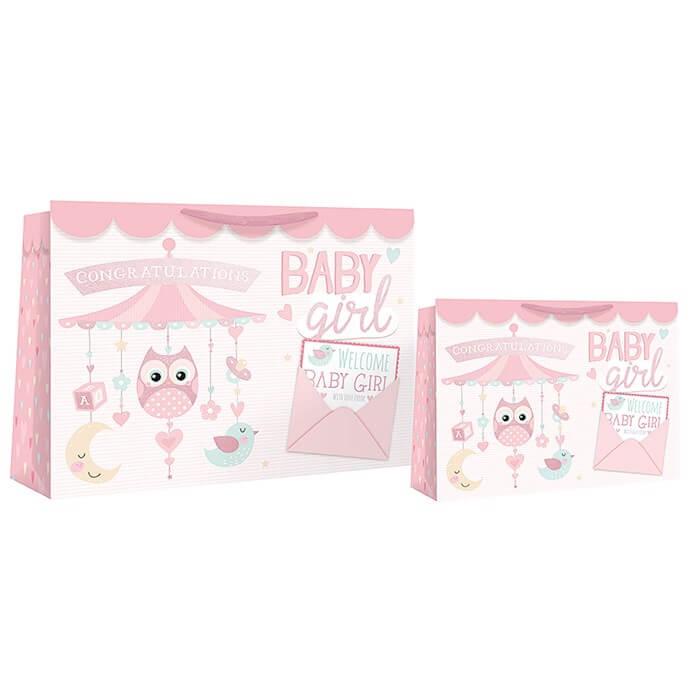 Punga medie cu bufnita Congratulation Baby Girl
