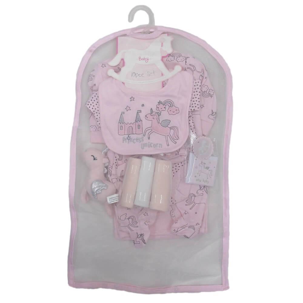 Set cadou hainute 10 piese pentru fetite cu unicorn