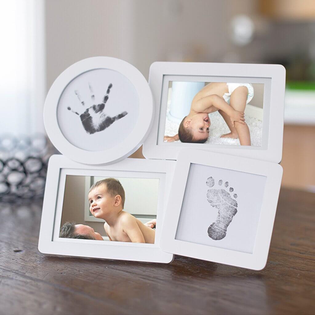 Pearhead - Kit rama foto multipla cu amprente din cerneala pentru manuta si piciorus