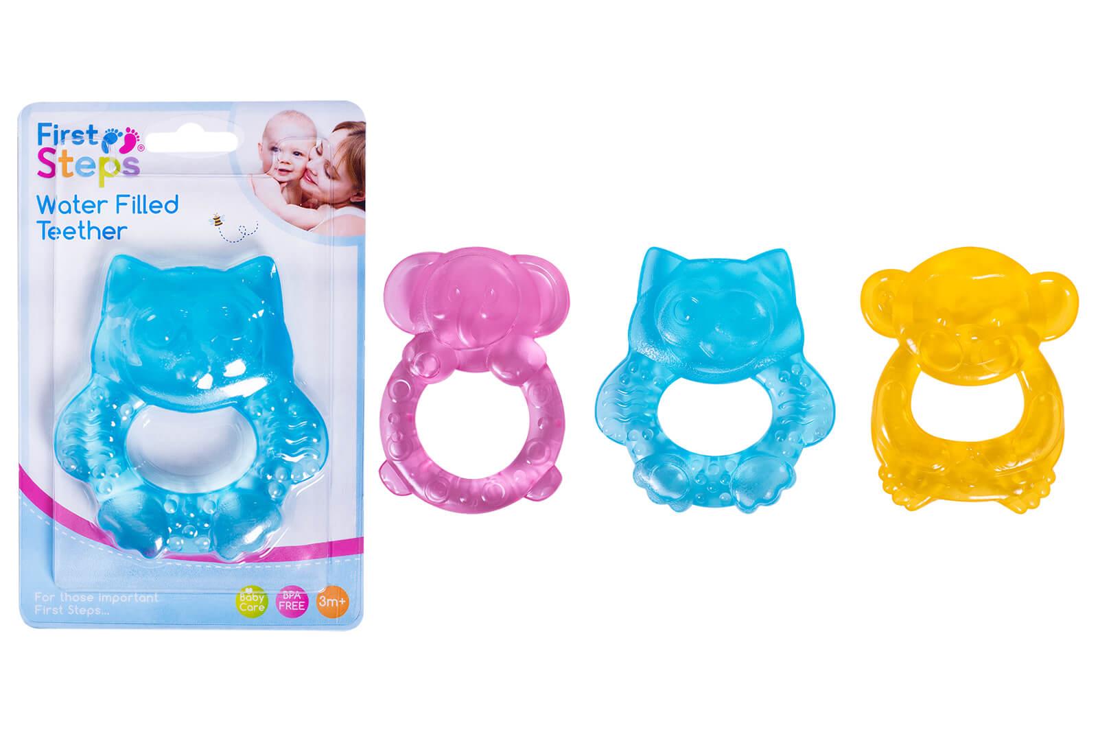 First Steps - Inel pentru dentitie cu gel - model animalute