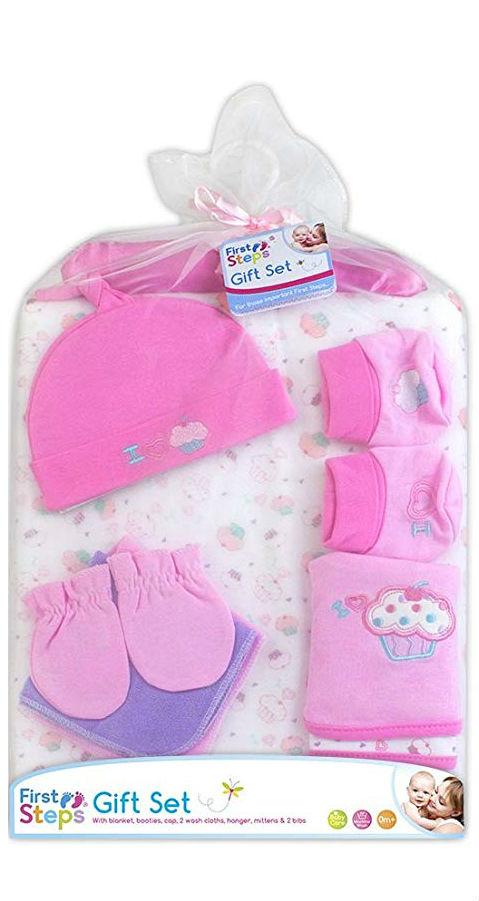 Set cadou nou nascuti 8 piese pentru fetita
