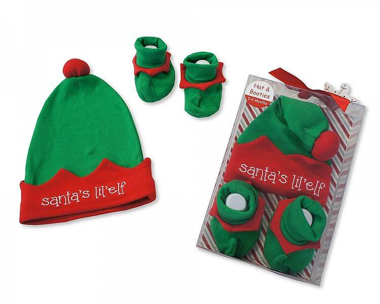 Set cadou Craciun cu caciulita si botosei Santa's elf