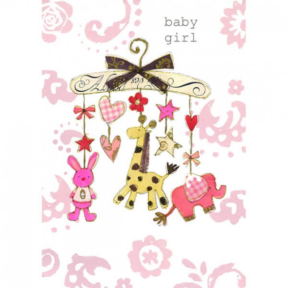 Felicitare cu animalute pentru fetita