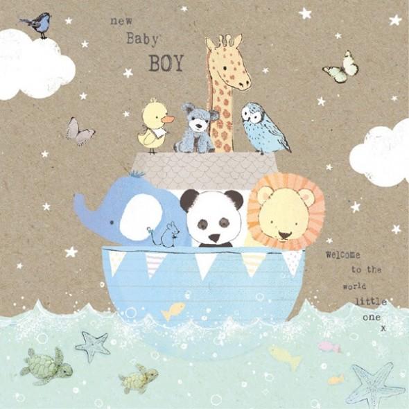 Felicitare New Baby Boy Noah's Ark
