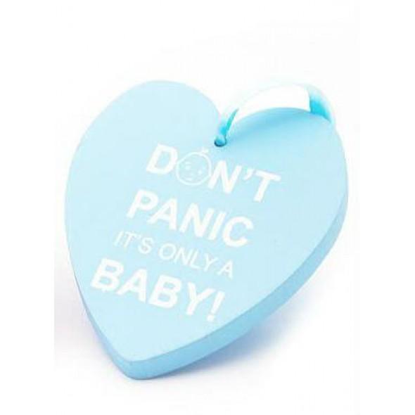 Placuta Don't panic blue