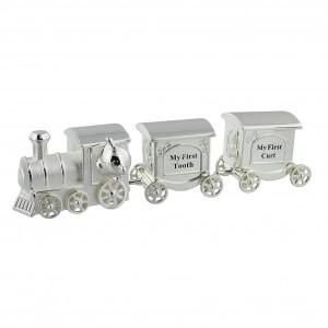 Juliana - Trenulet argintat cu spatii pentru suvita si dintisor