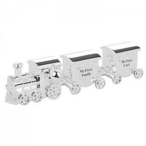 Trenulet argintat resigilat cu spatiu pentru suvita si dintisor
