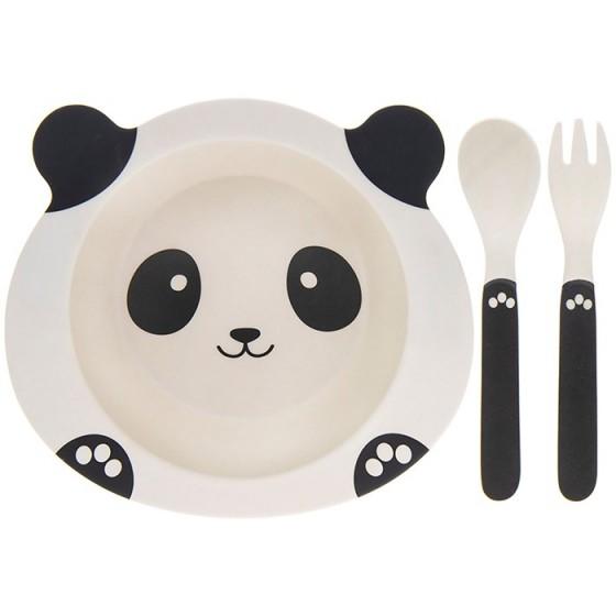 Set mic dejun eco bambus 3 piese panda
