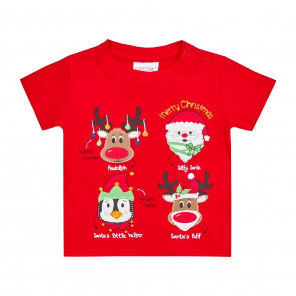 Tricou pentru Craciun - model Rudolph