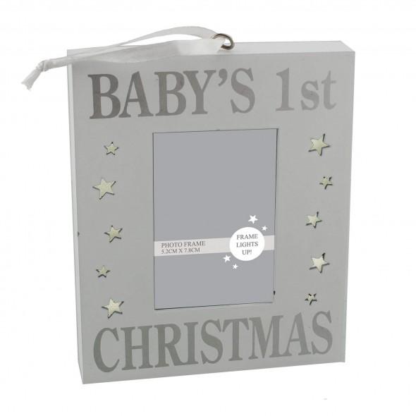 Rama foto cu lumina Baby's 1st Christmas