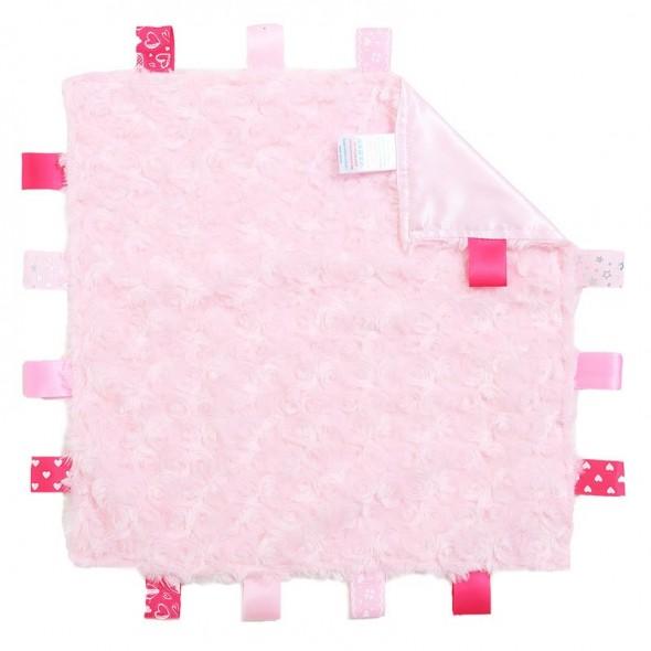 Mini paturica atasament Taggies roz Soft Touch