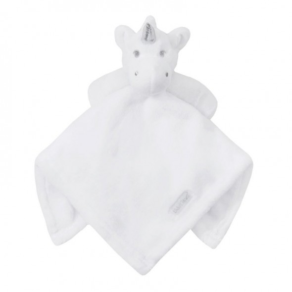 Jucarie unicorn alb cu paturica Baby Town