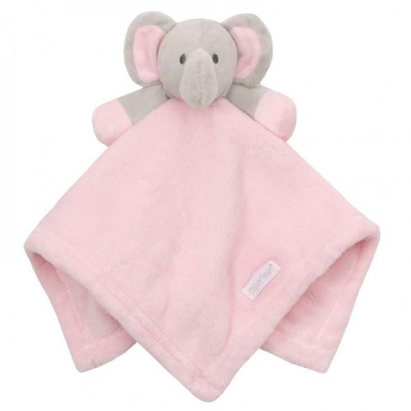 Paturica jucarie bebe cu elefantel roz Baby Town