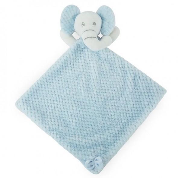 Paturica jucarie bebe model elefantel Soft Touch bleu