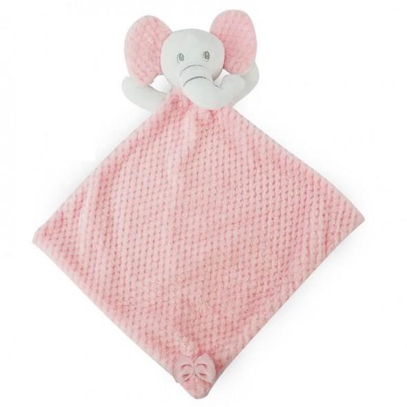 Paturica jucarie bebe model elefantel Soft Touch roz
