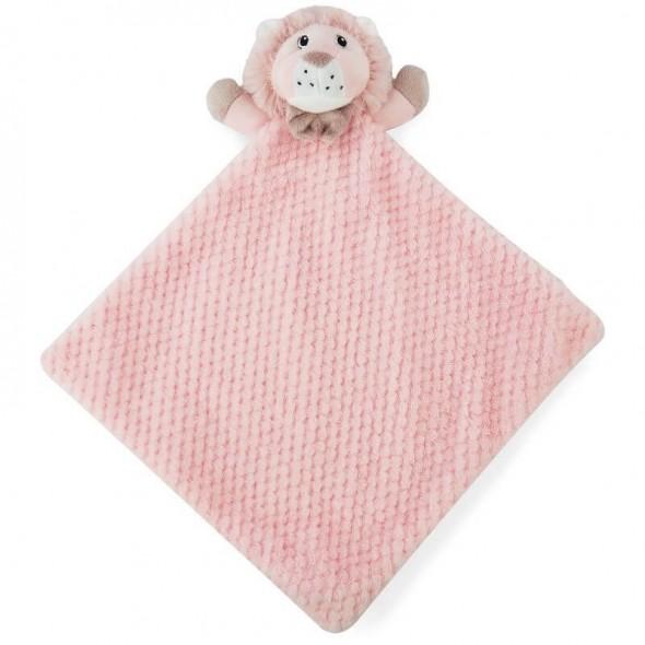 Paturica jucarie bebe model leu Soft Touch roz
