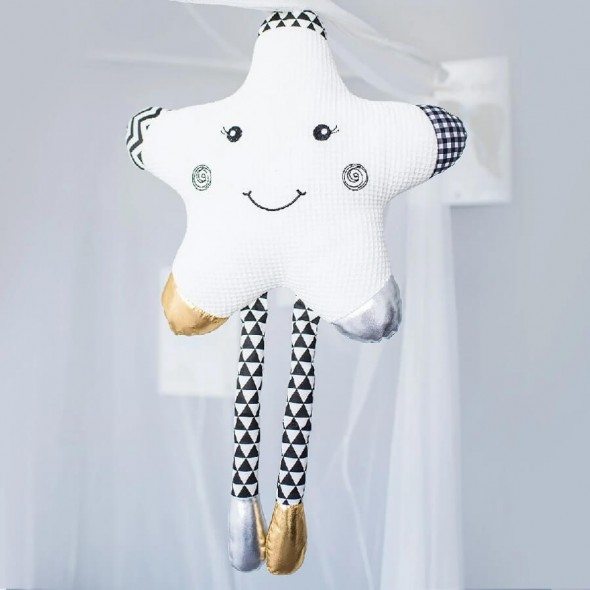 Jucarie atasament perna in forma de stea pentru bebelusi BabyOno