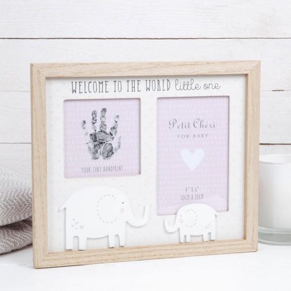 Rama foto cu amprenta cerneala Petit Cheri pentru fetita krbaby.ro