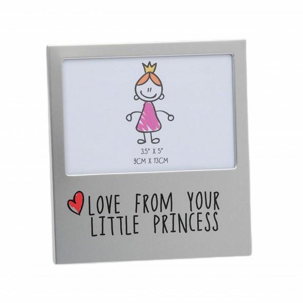 Rama foto din aluminiu love from your little princess