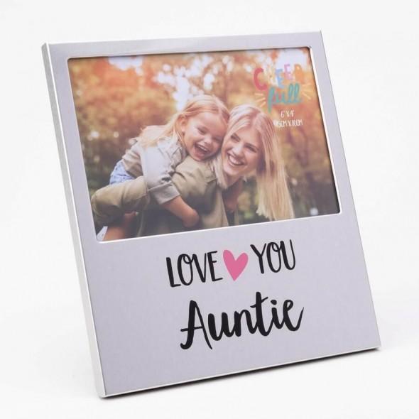 Rama foto din aluminiu love you Auntie