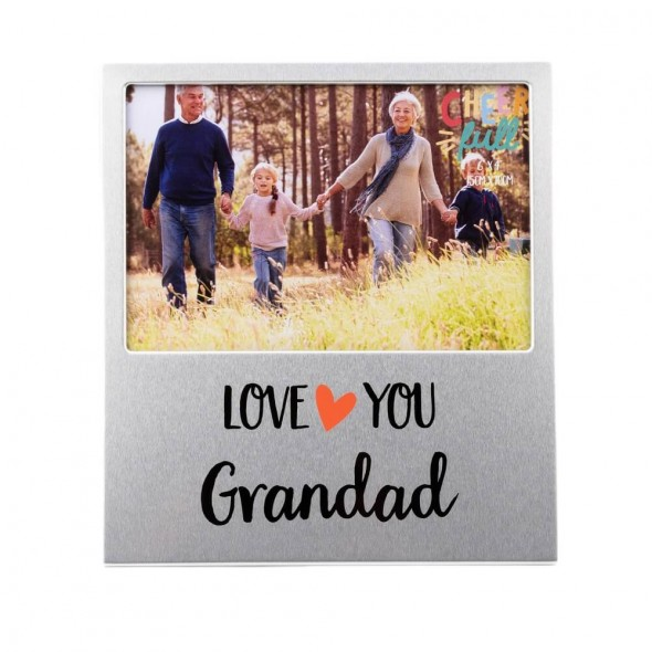Rama foto din aluminiu love you Grandad