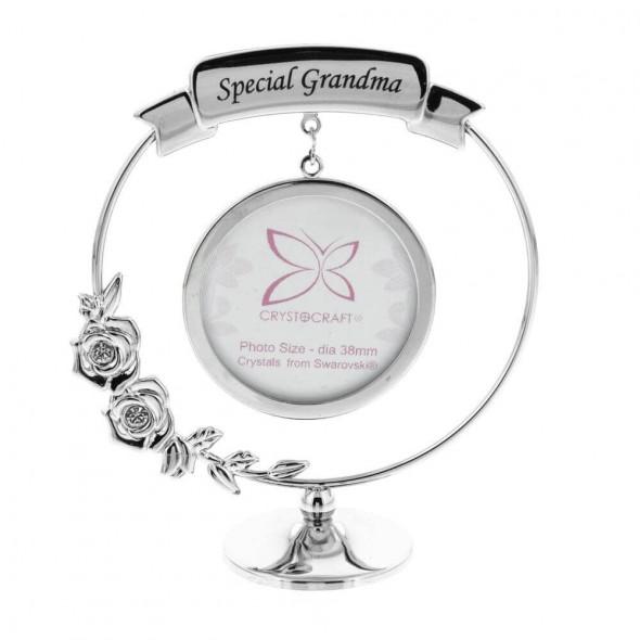 Ornament rama foto cu cristal Swarovski Special Grandma