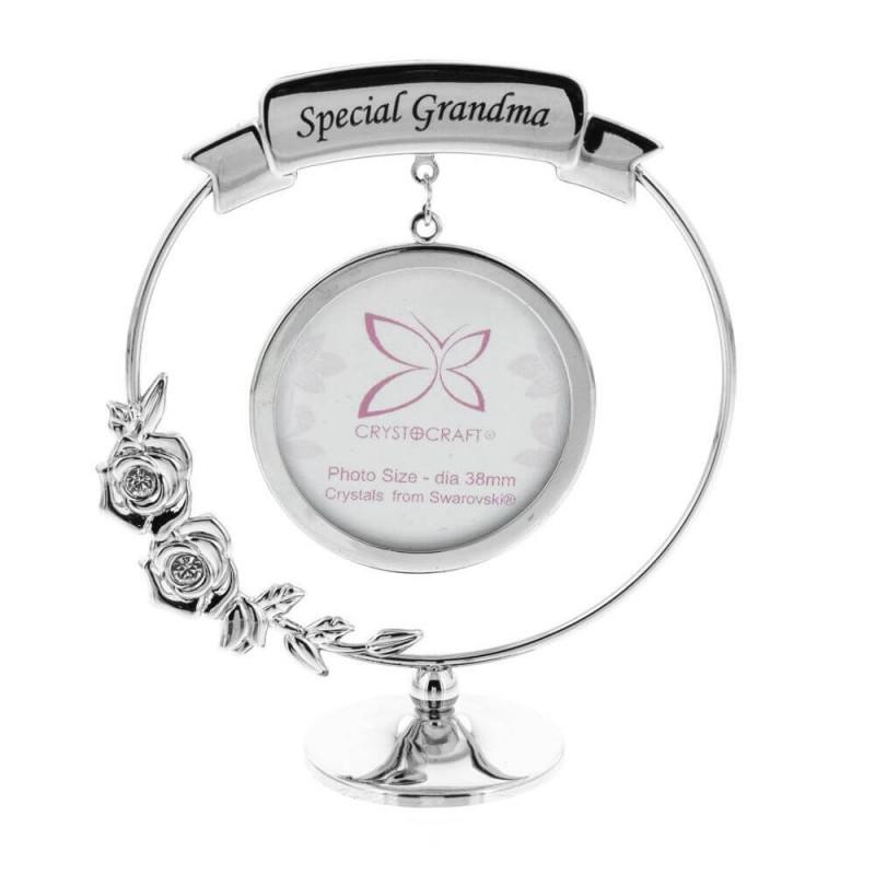 Ornament rama foto cu cristal Swarosvki Special Grandma
