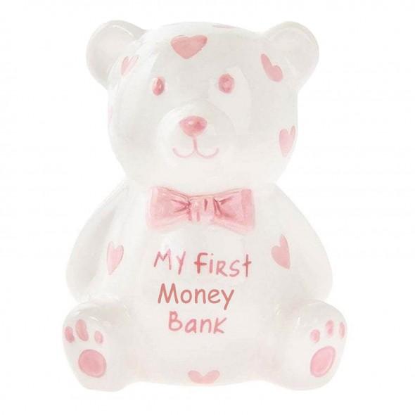 Pusculita ursulet roz My First Money Bank