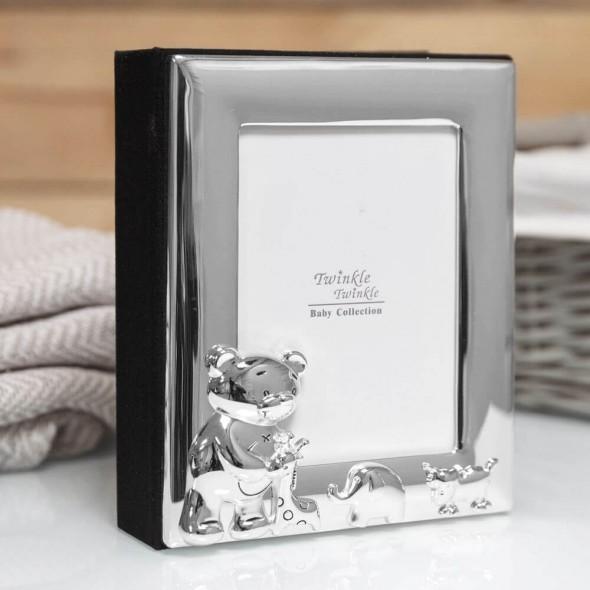 Twinkle Twinkle - Album foto argintat cu ursulet