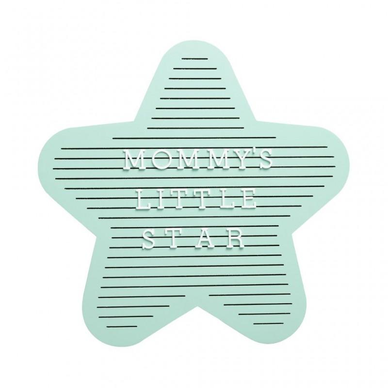 Pearhead - Tabla decorativa steluta cu litere pentru personalizare
