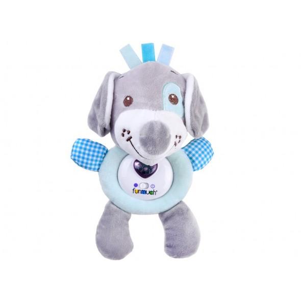 Jucarie interactiva pentru bebelusi catelus bleu