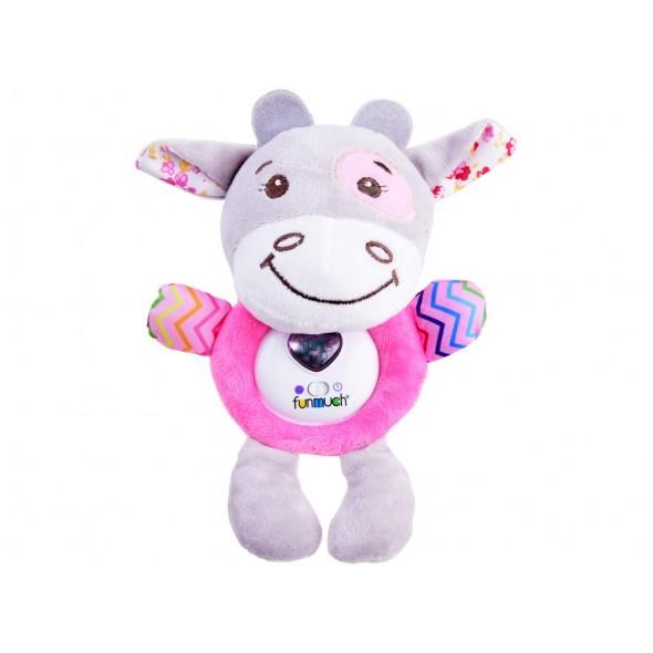 Jucarie interactiva pentru bebelusi vacuta roz