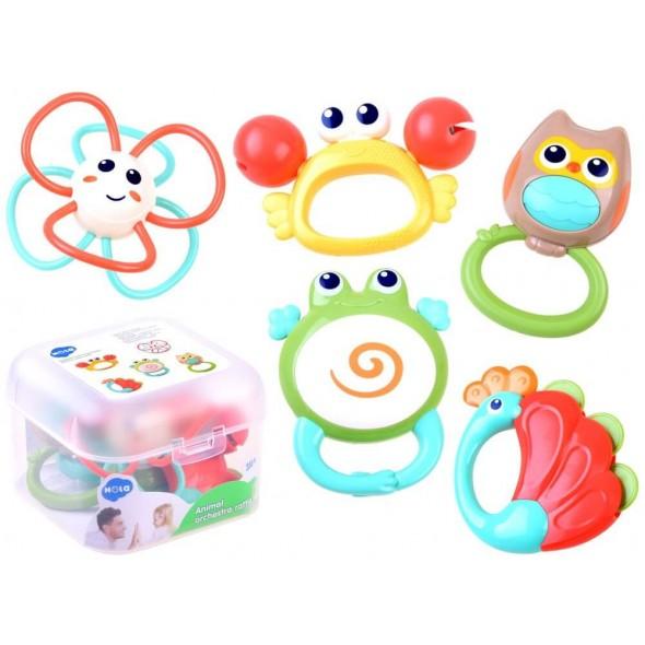 Set 5 jucarii dentitie pentru bebelusi Hola Toys