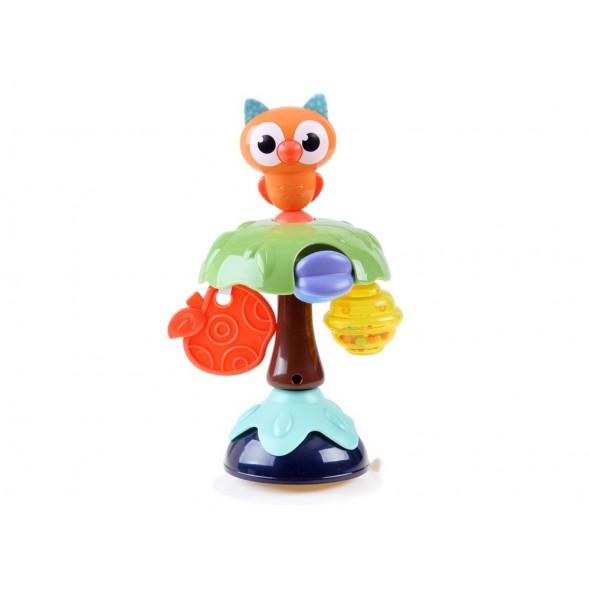 Jucarie zornaitoare cu ventuza Hola Toys - bufnita