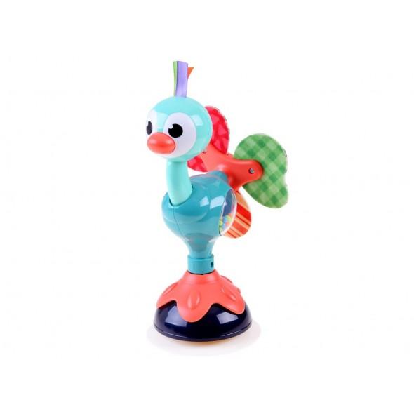 Jucarie zornaitoare cu ventuza Hola Toys - paun