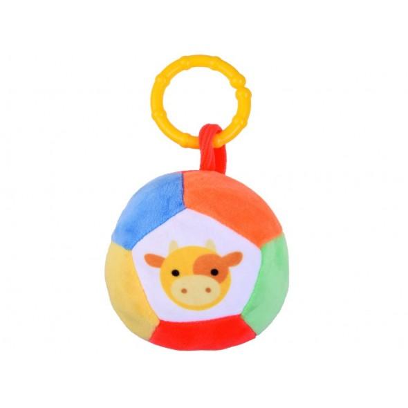 Mingiuta de plus multicolora pentru bebelusi